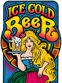 Ice Cold Beer-Side Art